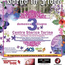 """""""Il Borgo in fiore"""" domenica 3 giugno a Torino. Organizza l'associazione dei commercianti del centro storico"""