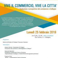 """COLLEGNO / """"Vive il commercio, vive la città"""": lunedì 25 febbraio convegno-dibattito fra le associazioni di categoria e l'amministrazione comunale"""