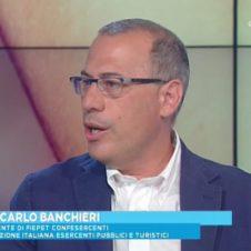 "Giancarlo Banchieri, presidente di Fiepet, ospite di Unomattina Estate per parlare di ""discoteche sicure"""