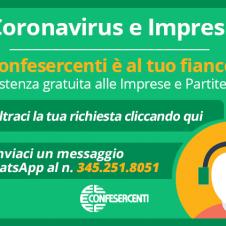 Cura Italia, Confesercenti lancia l'assistenza a distanza per le imprese: piattaforma web, whatsapp e numero verde per essere vicini, anche da lontani