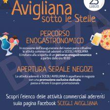 """""""Avigliana sotto le stelle"""", sabato 25 luglio negozi aperti di sera e tante degustazioni: è un'iniziativa promossa da Confesercenti nell'àmbito del progetto ScegliAvigliana"""
