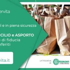 Confesercenti rilancia il portale LaSpesaServita: oltre 1400 fra negozi e pubblici esercizi che offrono la consegna a domicilio e l'asporto