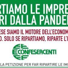 """Confesercenti, al via l'iniziativa """"Portiamo le imprese fuori dalla pandemia"""". Firma anche tu la nostra petizione!"""
